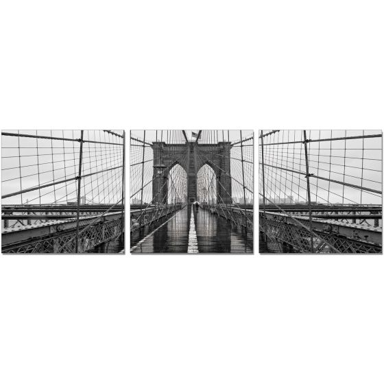 ✅ Premium Acrylic 3-Piece Wall Art Brooklyn Bridge Classic-SH-71438ABC | VivaSalotti.com | pic1