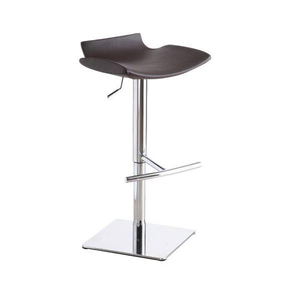 ✅ C159-3 Modern Adjustable Swivel Barstool with Foot Rest, Brown | VivaSalotti.com | pic