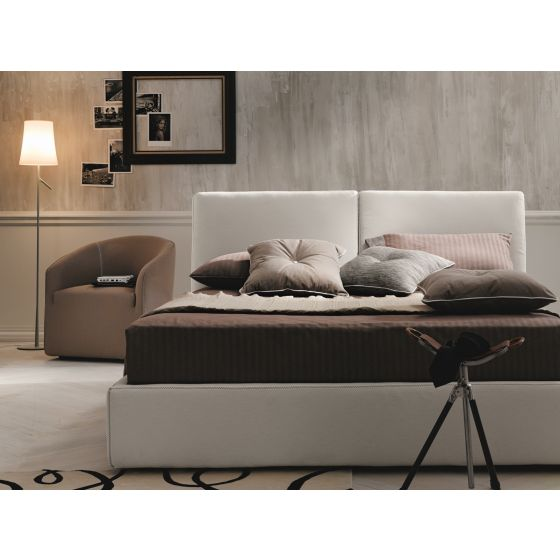 ✅ Clay Fabric King Size Storage Bed, White | VivaSalotti.com | pic5