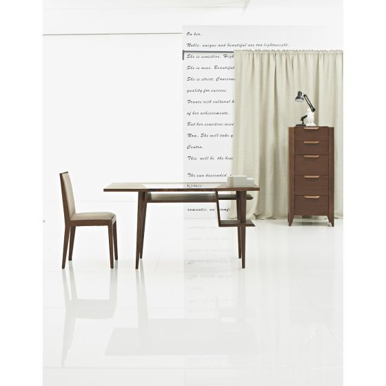 ✅ Codex Modern Office Desk with Shelves, Brown | VivaSalotti.com | pic2