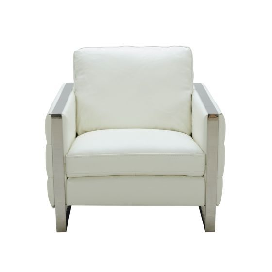 ✅ Constantin Premium Leather Chair, White | VivaSalotti.com | pic3