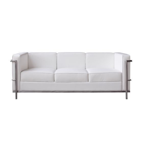 ✅ Cour Italian Leather Sofa, White | VivaSalotti.com | pic2