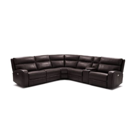 ✅ Cozy 6Pc Motion Sectional, Chocolate | VivaSalotti.com | pic