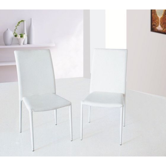 ✅ DC-13 Modern Leather Dining Chair, White | VivaSalotti.com | pic1