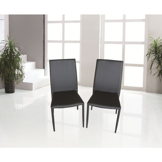 ✅ DC-13 Modern Leather Dining Chair, Black | VivaSalotti.com | pic1