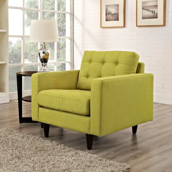 ✅ Empress Upholstered Fabric Armchair (Wheatgrass) | VivaSalotti.com | pic