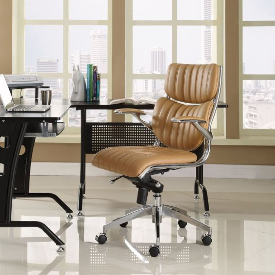 ✅ Escape Mid Back Office Chair (Tan) | VivaSalotti.com | pic