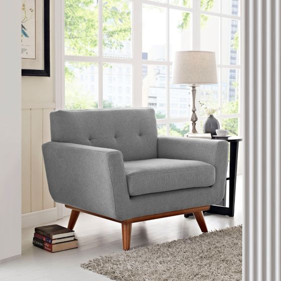 ✅ Engage Upholstered Fabric Armchair (Expectation Gray) | VivaSalotti.com | pic