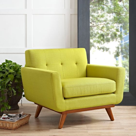 ✅ Engage Upholstered Fabric Armchair (Wheatgrass) | VivaSalotti.com | pic