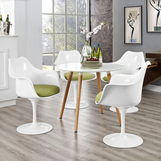 ✅ Lippa Dining Armchair Set of 4 (Green) | VivaSalotti.com | pic