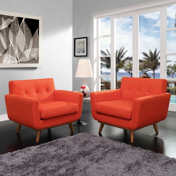 ✅ Engage Armchair Wood Set of 2 (Atomic Red) | VivaSalotti.com | pic