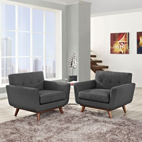 ✅ Engage Armchair Wood Set of 2 (Gray) | VivaSalotti.com | pic