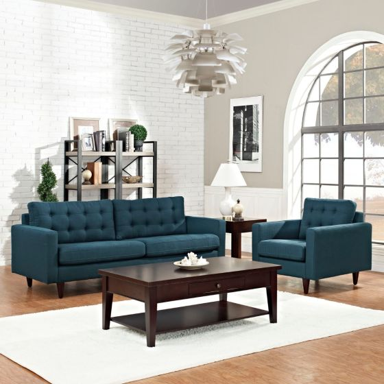 ✅ Empress Armchair and Sofa Set of 2 (Azure) | VivaSalotti.com | pic