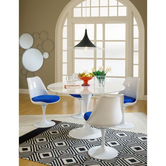 ✅ Lippa Dining Side Chair Fabric Set of 4 (Blue) | VivaSalotti.com | pic
