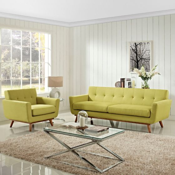 ✅ Engage Armchair and Sofa Set of 2 (Wheatgrass) | VivaSalotti.com | pic