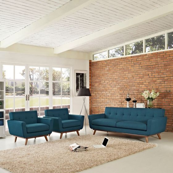 ✅ Engage Armchairs and Sofa Set of 3 (Azure) | VivaSalotti.com | pic