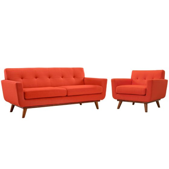 ✅ Engage Armchair and Loveseat Set of 2 (Atomic Red) | VivaSalotti.com | pic1