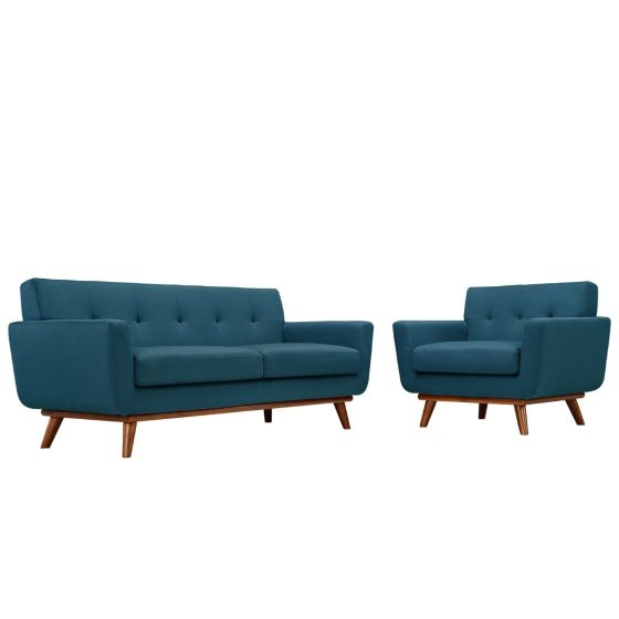 ✅ Engage Armchair and Loveseat Set of 2 (Azure) | VivaSalotti.com | pic
