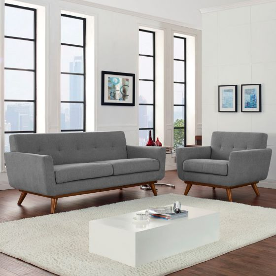 ✅ Engage Armchair and Loveseat Set of 2 (Expectation Gray) | VivaSalotti.com | pic