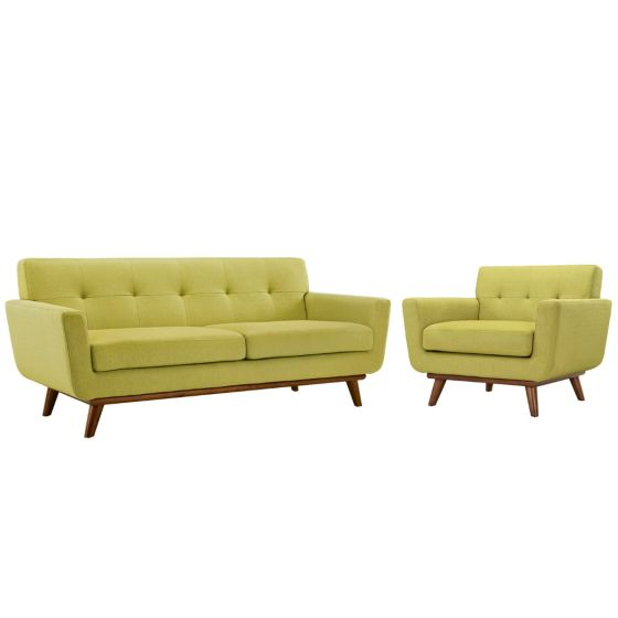 ✅ Engage Armchair and Loveseat Set of 2 (Wheatgrass) | VivaSalotti.com | pic1