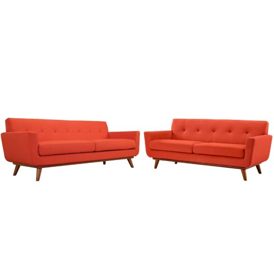 ✅ Engage Loveseat and Sofa Set of 2 (Atomic Red) | VivaSalotti.com | pic1