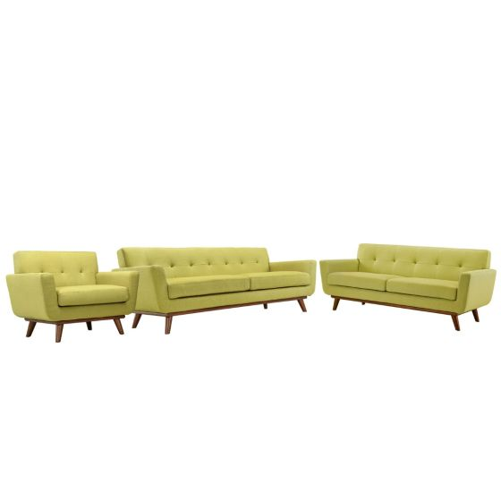 ✅ Engage Sofa Loveseat and Armchair Set of 3 (Wheatgrass) | VivaSalotti.com | pic1