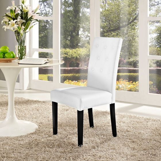 ✅ Confer Dining Vinyl Side Chair (White) | VivaSalotti.com | pic