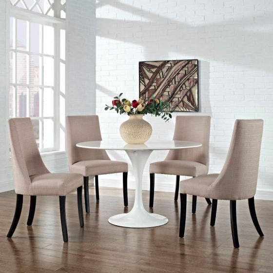 ✅ Reverie Dining Side Chair Set of 4 (Beige) | VivaSalotti.com | pic