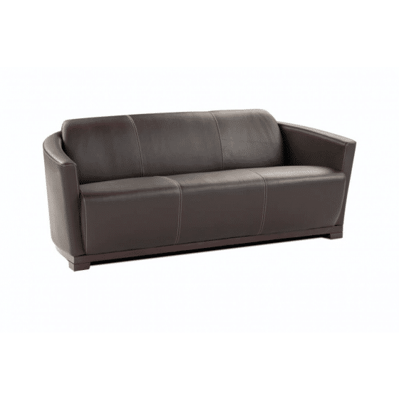 ✅ Hotel Italian Leather Sofa, Brown | VivaSalotti.com | pic