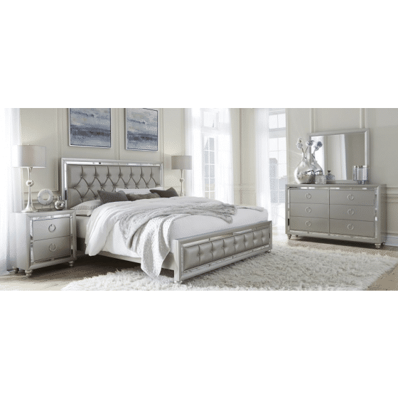 ✅ Riley Silver Bedroom Set | VivaSalotti.com | pic