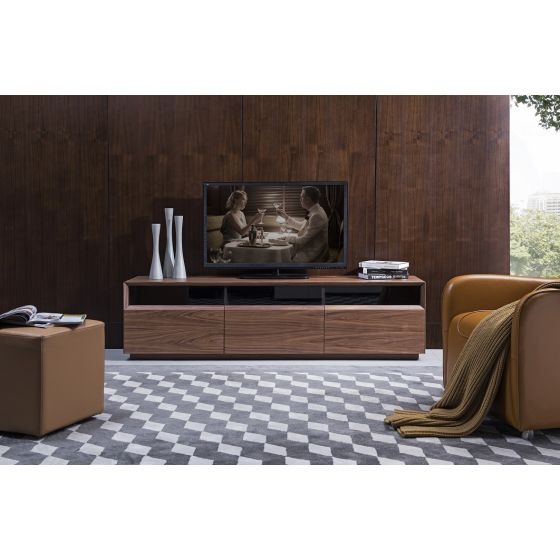 "✅ Lisa Modern TV Stand for TVs up to 70"", Walnut 