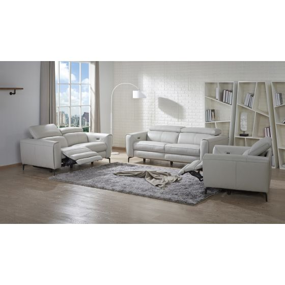 ✅ Lorenzo Motion Sofa Set, Light Grey | VivaSalotti.com | pic