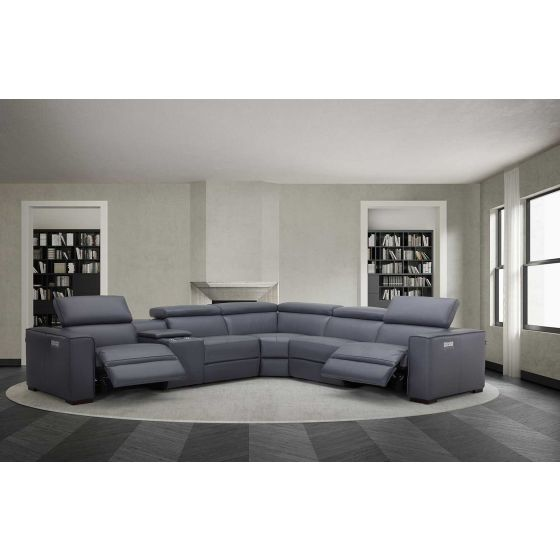 ✅ Picasso 6Pc Motion Modular Sectional, Blue Grey | VivaSalotti.com | pic