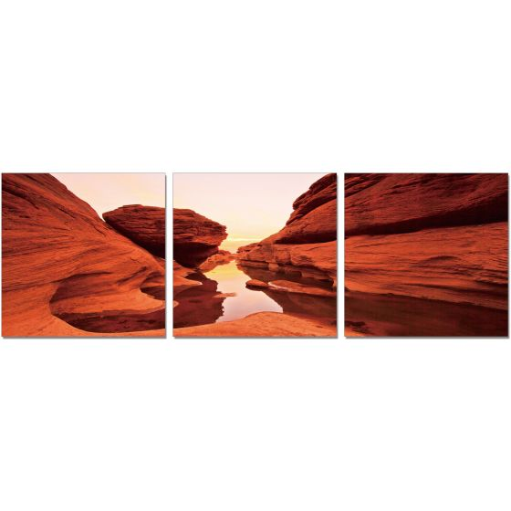 ✅ Premium Acrylic Wall Art Red Rock-SH-71674ABC | VivaSalotti.com | pic1