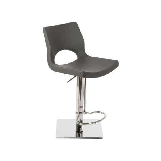 ✅ C203-3 Modern Adjustable Swivel Barstool with Foot Rest, Grey | VivaSalotti.com | pic4