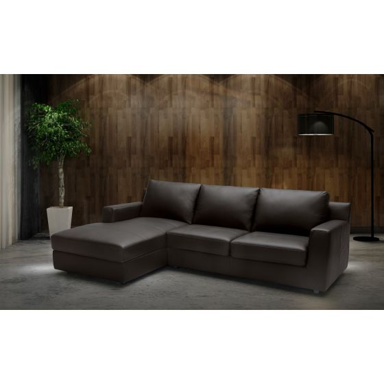 ✅ Taylor Premium Left Hand Facing Sectional Sleeper, Brown | VivaSalotti.com | pic1