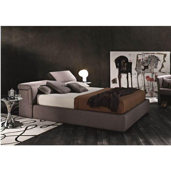 ✅ Tower S600 Fabric Storage King Size Platform Bed, Taupe | VivaSalotti.com | pic