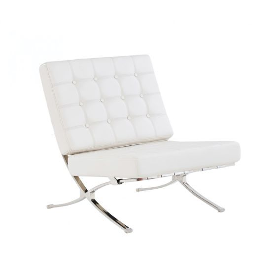 6293 Accent Chair, White