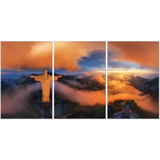 ✅ Premium Acrylic 3-Piece Wall Art Christ The Redeemer-SH-72328ABC | VivaSalotti.com | pic2
