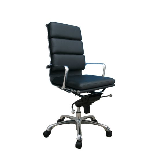 ✅ Plush High Back Adjustable Swivel Office Chair, Black | VivaSalotti.com | pic