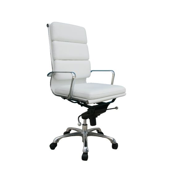 ✅ Plush High Back Adjustable Swivel Office Chair, White | VivaSalotti.com | pic2