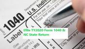 E File Form 1040 & NC State return DB TAX by OutpostLE
