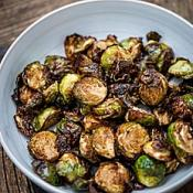 Vegan Air-Fried Brussel Sprouts on OutpostLE Durham NC