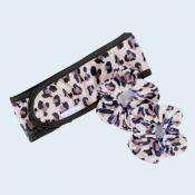 LEOPARD SKINCHIE KIT (skinchie, headband, makeup applicator)
