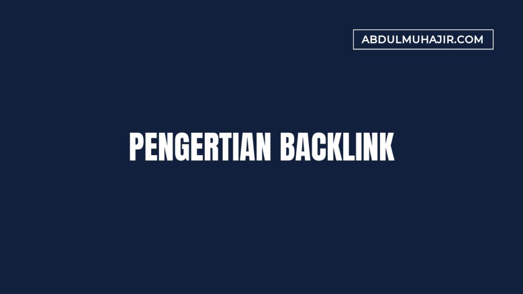 pengertian backlink
