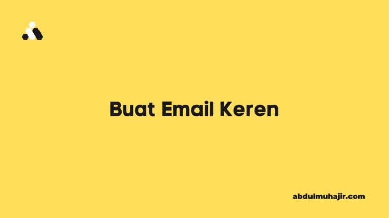 buat email keren