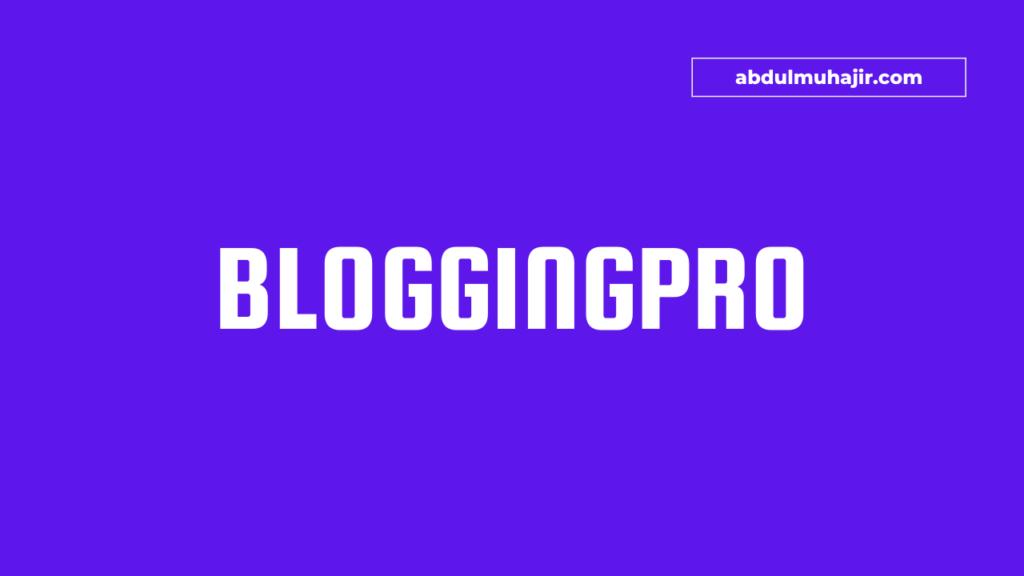 Bloggingpro Theme WordPress Terbaik