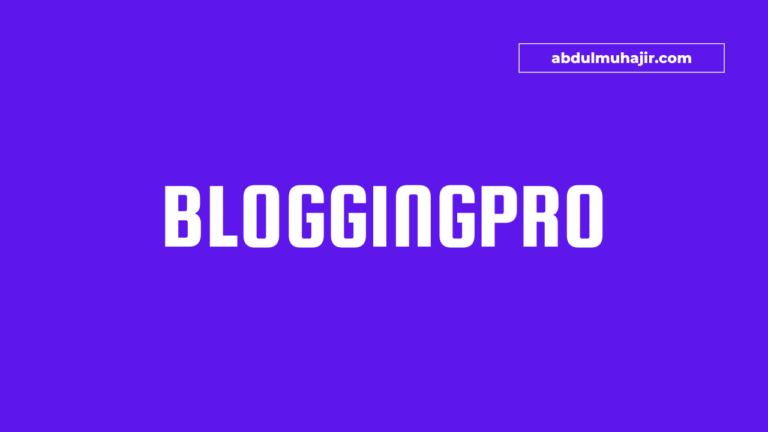 Bloggingpro Theme WordPress Terbaik Untuk Situs Berita
