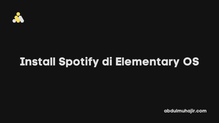 Cara Install Spotify di Elementary OS