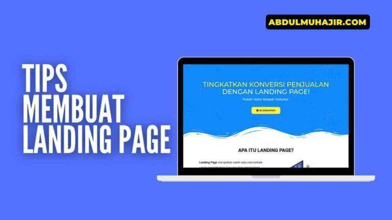 Tips Membuat Landing Page